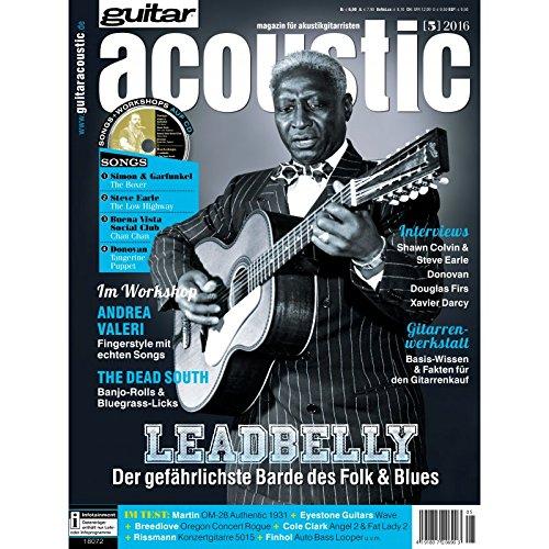 guitar acoustic 5 2016 mit CD - Leonard Cohen - Interviews - Akustikgitarre Workshops - Akustikgitarre Playalongs - Akustikgitarre Test und Technik - Akustikgitarre Noten