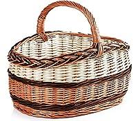 Garronda Wicker Shopping Basket ZAK_ZB (15.75 in x 12.20 in x 8.66 in)