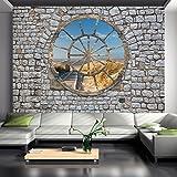 murando - Fotomurali - 250x175 cm - Carta da parati sulla fliselina - Carta da parati in TNT - Quadri murali XXL - Fotomurale - citta New York legno Albero marrone spiaggia d-A-0008-a-d