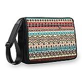 MySleeveDesign Messenger Bag Laptoptasche Notebooktasche mit Tragegurt - Tasche für Laptop & Notebook der Größen 13,3 Zoll / 14 Zoll / 15,6 Zoll / 17,3 Zoll - VERSCH. Designs - Ancient Signs - 15