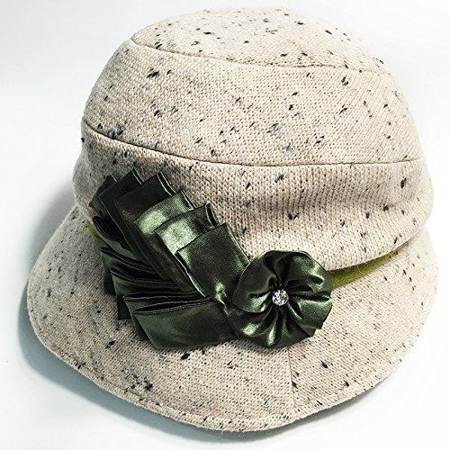 FQG*Ms. autunno e inverno cappelli di lana piccolo elegante marea