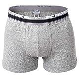 Dolce & Gabbana Herren Boxer Shorts, Regular Boxer, S-XL, Uni, Feinripp, Logobund: Farbe: Grau | Größe: M (Gr. Medium)