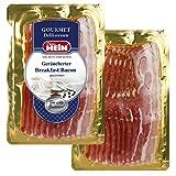 Bauchspeck mit herzhaftem Aroma, Frühstücksschinken geräuchert- Breakfast Bacon-100g fertig geschnitten, die Gourmet Delikatesse von der Niederschlesischen Wurstmanufaktur Görlitz