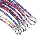 Cordón de gafas estampado étnico multicolor, 3 unidades
