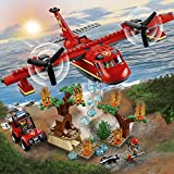 LEGO 60217 City Fire Plane Building Set, Toy Airplane and Buggy, Water Cannon, Firefighter Toys for Kids