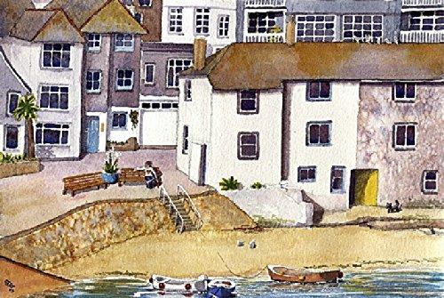 St. Ives, 'Lazy Morning'12 x 40.64 cm Kunstdruck von Cornwall ein Aquarellbild von Alex Pointer