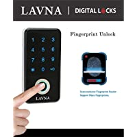 LAVNA Fingerprint and Password Digital Drawer/Cabinet Lock -Not for Door (Standard Size, Multicolour)