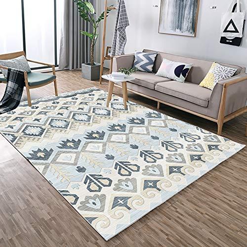 ZGYZ Kinderteppich und -Teppich Soft Tatami Rutschfest Vergrößern Spielmatte in 4 Größen, Kurzhaarkleid (Mix Grey),A,60×90