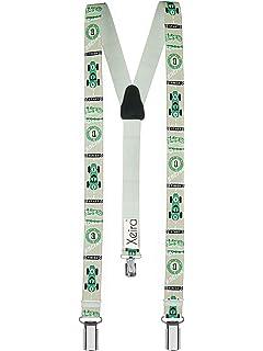 Uni//Neon and Retro Glitter Design Blue Gold//Grey Silver//Black Silver//Red//Pink//Black//Green//Orange//Blue//Brown//Beige XEIRA reg; Braces//Suspender for Children
