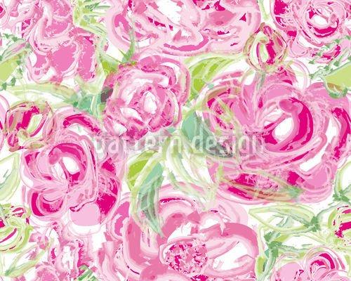 Alu-Dibond-Bild 60 x 40 cm: 'Rosen Aquarell', Bild auf Alu-Dibond (gekachelt)