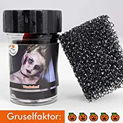 Idea Regalo - Koh, sangue finto con spugna per simulare croste e ferite, 15 ml, per travestimento da zombie e vampiri per Halloween e carnevale