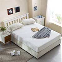 """Dream Care Waterproof Dustproof Terry Cotton Mattress Protector for Single Bed - 72""""x30"""", White"""