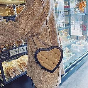DRAULIC Tasche Rhombic Chain Rivet Vielseitige Messenger Bag Trendy Love Umhängetasche