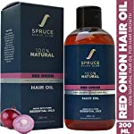 Spruce Shave Club Red Onion Hair Oil For Hair Growth with 13 Natural Oils & Extracts - 100% Natural Hair Oil (200ml)