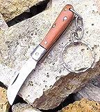 LAGUIOLE 2730 - Llavero con Forma de serpeta de Teca y Acero Inoxidable