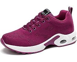 GAXmi Zapatillas Deportivas de Mujer Air Cordones Zapatos de Ligero Running Fitness Zapatillas de para Correr Antideslizantes