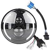 Duokon Car LED Angel Eye Light, 150W 7 Pollici Round High/Low Beam Fari Day Running Light DRL Indicatore di direzione…