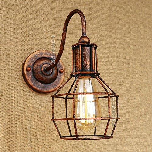 Modeen Lámpara de aplique de pared de jaula de metal de hierro...