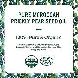 Huile de pépins de figue de Barbarie (ou Huile de graines de cactus) - 100% pure, biologique et pressée à froid.