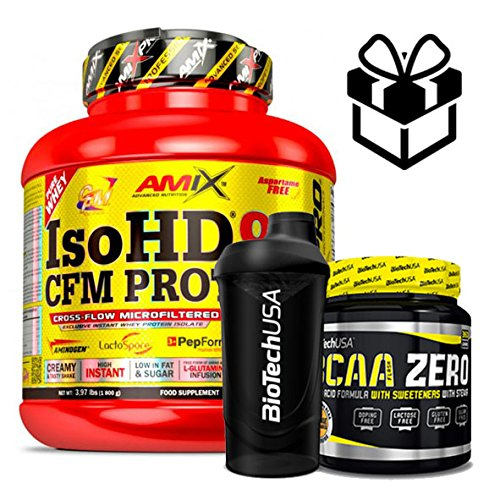 Amix Pro Iso HD 90 CFM Protein 1800gr Doble Choco + Bcaa Flash + Mezclador