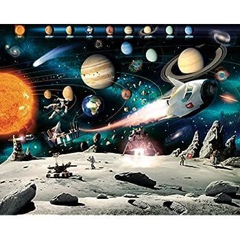 Walltastic Space Adventure Wallpaper Mural 8ft x 10ft