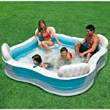 INTEX Luxus Familienpool - Pool Lounge - 229 x 229 x 66 cm - Swimmingpool für Garten