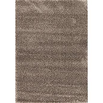 SIGNATURES Tapis Shaggy en laine Louna 120x170 cm taupe