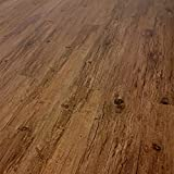TRECOR Vinyl-/LVT Klick Vinyl-Designboden Massivdiele 5 mm stark mit 0,5 mm Nutzschicht - Sie kaufen 1 m² - WASSERFEST - Bitte gewünschte Menge eintragen (Lärche Antik)
