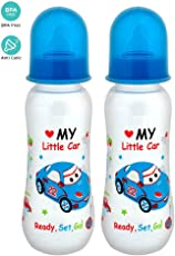 Mee Mee Premium Baby Feeding Bottle, 250ml, Blue (Pack of 2)