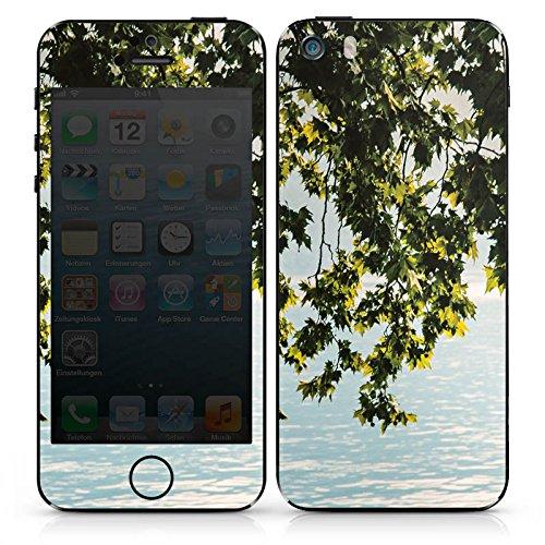 Apple iPhone SE Case Skin Sticker aus Vinyl-Folie Aufkleber Natur Baum See DesignSkins® glänzend