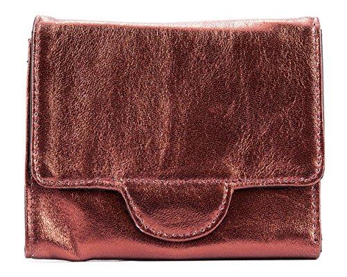 Big Damen Trixie Skinny Leder Tri-Fold Slim Wallet, hält bis zu 30Karten, Damen, burgunderfarben - Mikrofaser-wallet-karte