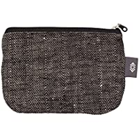 d58d55bd46ae3 Kleine Schwarze Leinwand Kosmetiktasche - Doppellagige 100% Leinen -  Kupplung - Geldbeutel - Taschen und