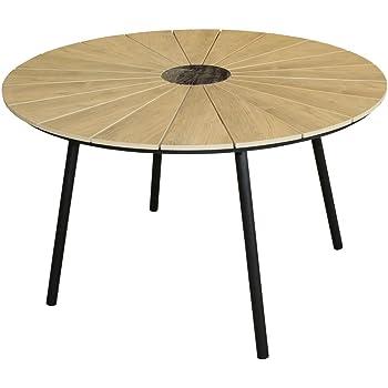 Amazon De Kmh Runder Holzimitat Tisch Gartentisch Wolfsburg O
