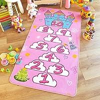 Producto de gran calidad a niños/alfombra infantil de castillo de princesas son rosa alfombra de juegos 80 cm x 150 cm (2' 6 x 152,4 cm aprox)