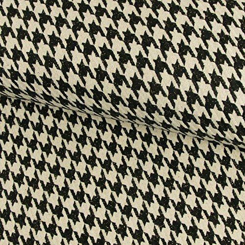 Wollstoff Hahnentritt mit Lurexfaden Mantelstoff - Preis gilt für 0,5 Meter - (Wolle Stoff Jacke Mantel)