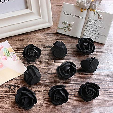 30Pcs Mini Pe Foam Rose Fleurs artificielles Mariage Décoration faite à la main Boîte de pompom Diy Guirlande Saint-valentin Fleurs