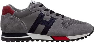 Hogan Sneakers Uomo H383 H Nastro Grigio