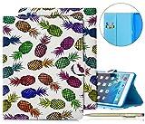Hülle für iPad 2, Herbests iPad 2/3/4 Lederhülle Flip Hülle Leder Klapphülle Ledertasche im Bookstyle Bunt Muster Ultradünn Cover Schutzhülle Geldbörse Tasche Leder Case Flip Cover Wallet Ca