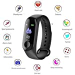 Clothsfab Digital Activity Tracker Band 3 Wristband Smartwatch with Everyday Step Count, Heart Rate Monitoring for All...