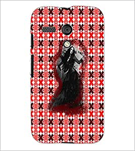 PrintDhaba Ghost D-3494 Back Case Cover for MOTOROLA MOTO G (Multi-Coloured)
