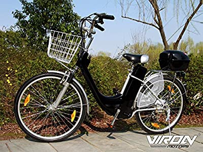 Electric City Bicycle 250w 36v 6 speeds upto 25km/h drum brakes BLACK