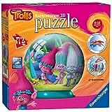 Ravensburger Italy 12197 - Trolls Puzzle 3D Ball, 72 Pezzi