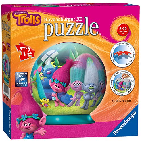 Ravensburger Trolls 3D-Puzzle, 72 Teile Pc New Factory