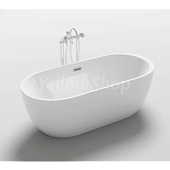 Vasca da bagno margherita freestanding bianca con piedini colore argento vintage garantita 2 - Vasca bagno bambini 5 anni ...