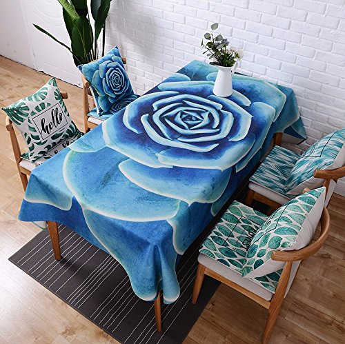 110* 110cm blau floral Nordic skandinavischen Modern Rustikal Land Art in in Esstisch Tuch Baumwolle Leinen Schreibtisch Garden rechteckig, quadratisch non-ironing Tischläufer