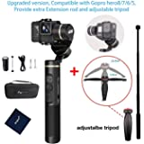 Feiyu G6 Upgraded Version Handheld Gimbal for Gopro Hero 8/7/6/5/4 with Adjustable Tripod and Extension Rod