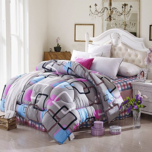 Polyester Betten/Bettwaren Wärme Voll/Queen/Voll/Twin Size Daunendecke Bettdecke einfügen, hypoallergen, genäht, Drucken Bettdecke Core, Euphorbia, 200 x 230 cm (3 kg)