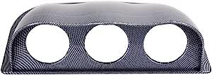 Mdurian 2 52mm Kohlefaser Universal Dreifachloch Auto Messgerät Pod Halter Gauge Halterung Messgerätehalter Bracket Instrumentenhalter Auto