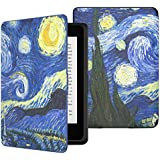 MoKo Case for Kindle Paperwhite, Premium Thinnest and Lightest Leather Cover with Auto Wake / Sleep for Amazon All-New Kindle Paperwhite (Fits All 2012, 2013 and 2015 Versions), Starry Night