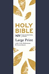 NIV Large Print Single-Column Deluxe Reference Bible: Navy Soft-tone (New International Version) Flexibound